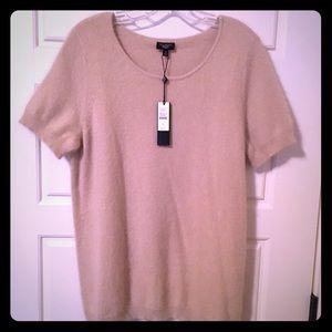 Angora Blend Short Sleeve Sweater